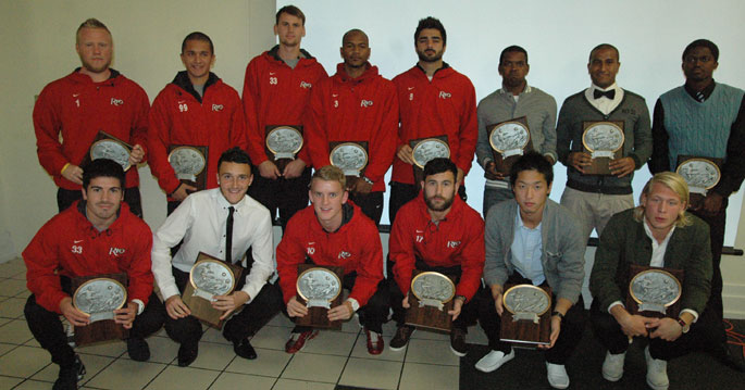 The 2012 men's soccer All Mid-South Conference first team