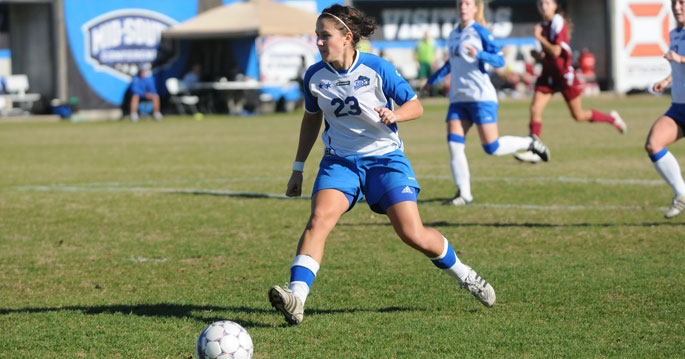 Elizabet Madjarac scored her first game-winner of the season in the Blue Raiders' 2-1 win over Spring Arbor