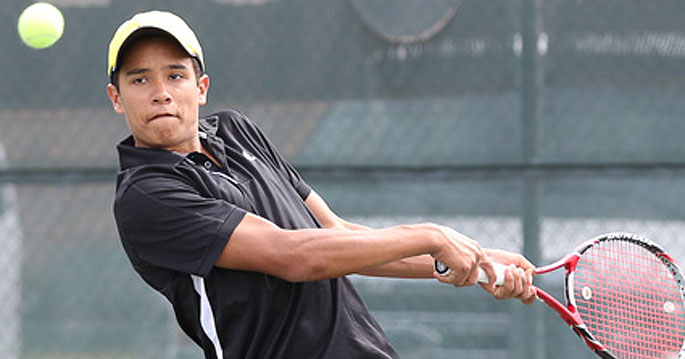 Pablo Borrero won his singles and doubles matches for the Bulldogs in Thursday's 5-2 loss to second-ranked Auburn Montgomery.