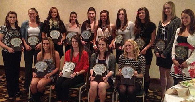 2012 All Mid-South Conference volleyball team