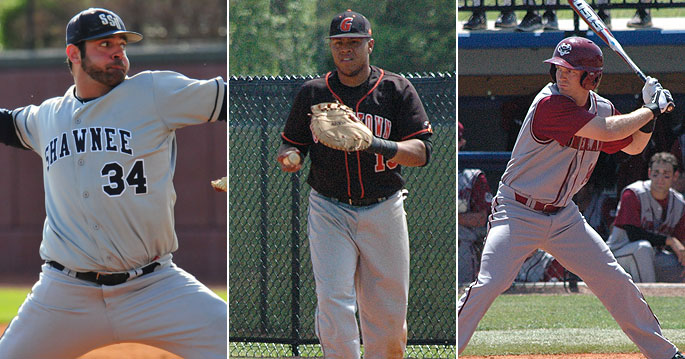 Derek Moore (left to right), Martin Lemus and Sam Lind are NAIA First Team All-Americans