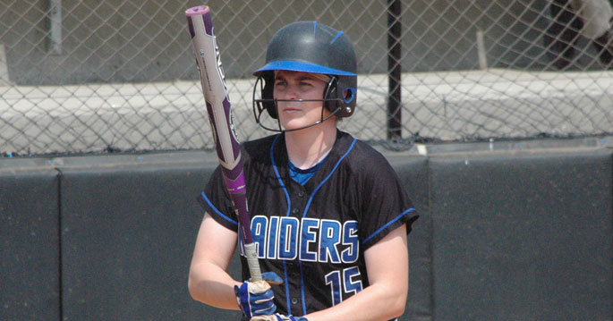 Senior Madison Scott recorded two hits today in the loss