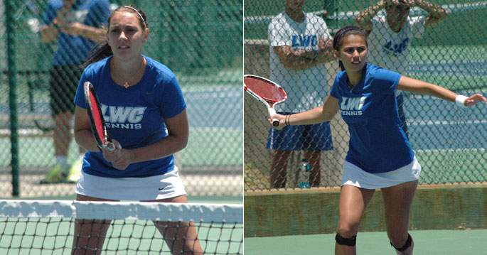 Sarah Bernos and Alejandra Galvis earned first team All-American honors