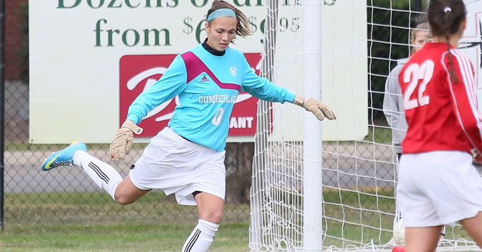 Cumberland's Lindsay Kitson is the Mid-South Defensive Women�s Soccer Player of the Week.