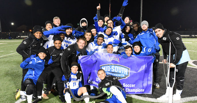 Lindsey Wilson Men's Soccer are the 2014 MSC Tournament Champions