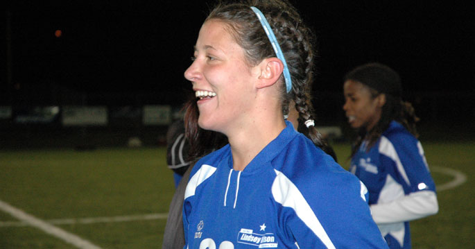 Daniela Schwarz was all smiles after winning the 2006 national championship