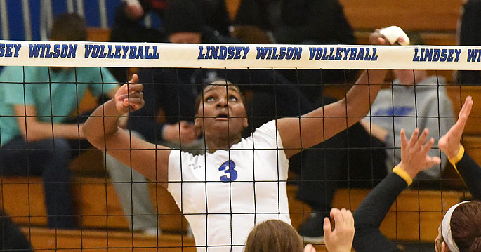 Lindsey Wilson's Yeniffer Ramirez has been named the AVCA Southeast Region Player of the Year.