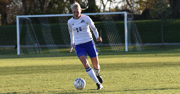 Carola Schneider scored her first goal of the season in the Blue Raiders' 5-0 win over Kansas Wesleyan